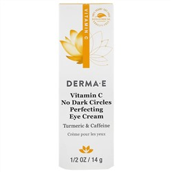 Derma E, Vitamin C, No Dark Circles Perfecting Eye Cream, 0.5 oz (14 g)