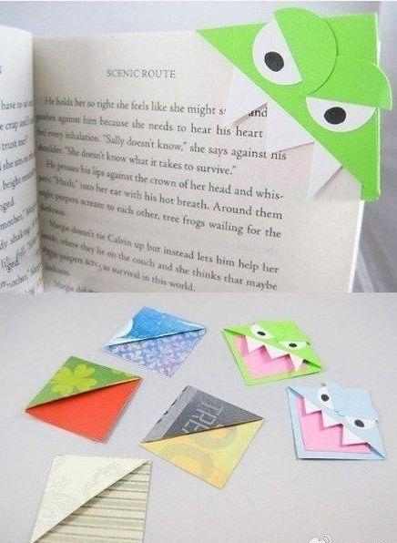 Делаем забавные закладки для книг с детьми.