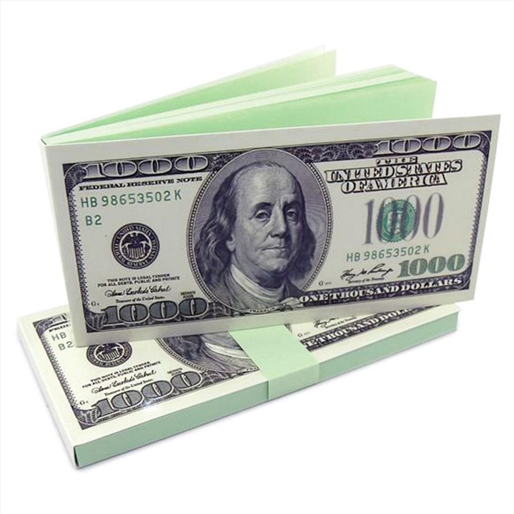 открытка в виде 1000 долларов делах