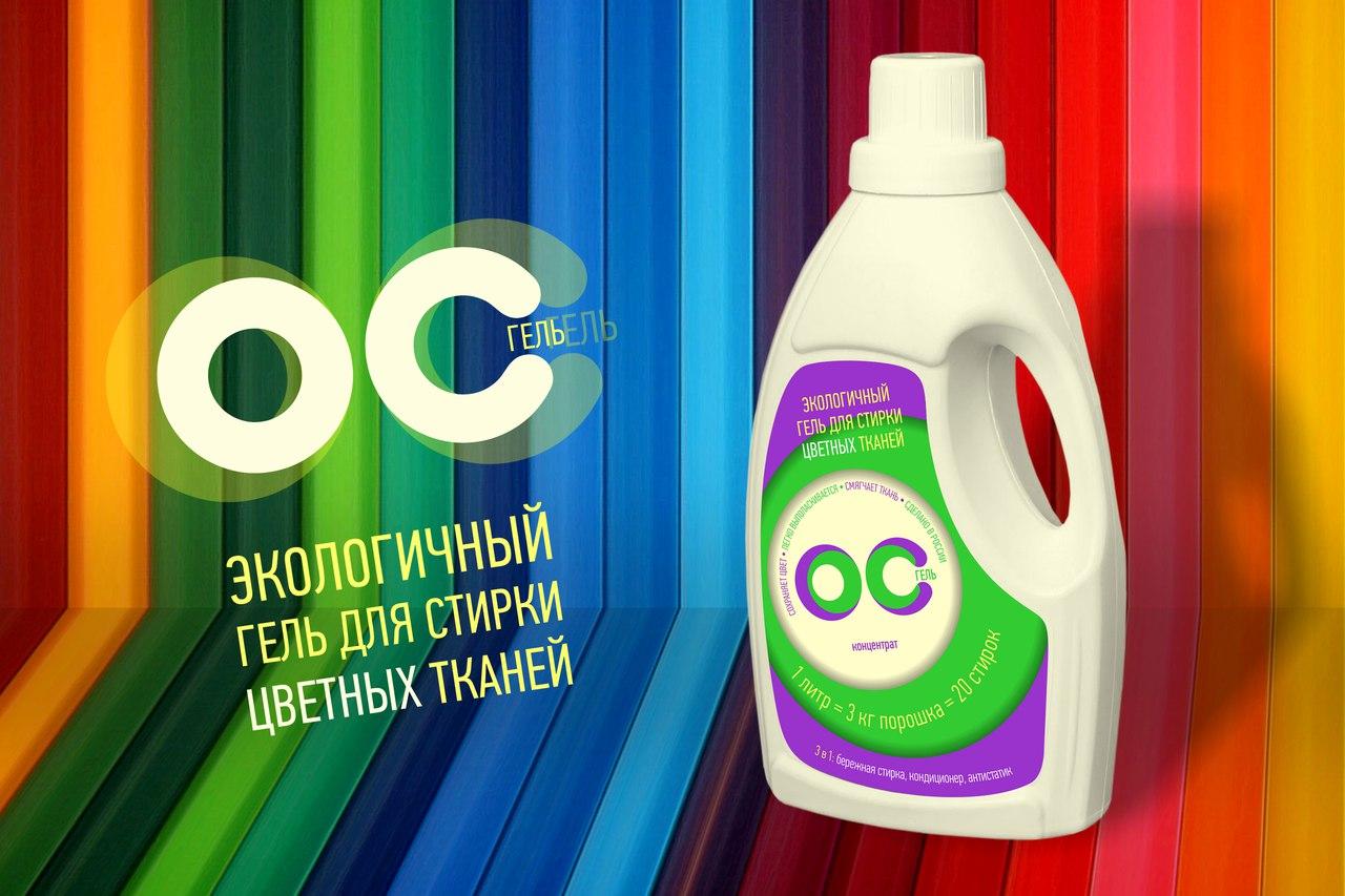 ОС-гель для стирки цветных тканей, 1л