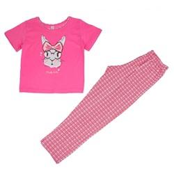 Пижама для девочки, цвет розовый 10833