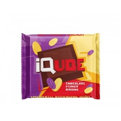 "Шоколад ""IQube chocolate peanut raisins"" 70 г"